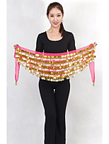 Belly Dance Belt Women's Performance Chiffon / Metal Gold Coins 1 Piece