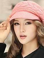 Fashion Winter Knitting Keep Solid Color Twist Warm Cap