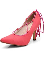 Women's Shoes PU Stiletto Heel Heels/ Pointed Toe Heels Office & Career / Dress / CasualBlack / Blue / Pink / Burgundy /