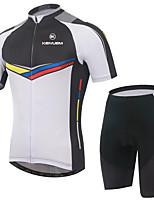 KEIYUEM Bicicleta/Ciclismo Maillot + Pantalones Cortos/Maillot+Culotte / Sets de Prendas/Trajes Unisex Mangas cortasImpermeable /