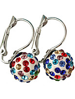 Multicolor Luxury Shiny Crystal Ball Diamond Ball Earrings