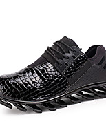 Men's Spring / Fall Comfort / Round Toe PU Outdoor / Casual Flat Heel Black / Blue / Black and Red Sneaker