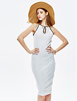 Herz Soul® Damen Rundhalsausschnitt Ärmellos Midi Kleid-WO8-5963
