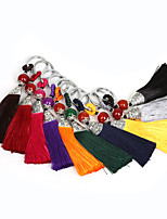 Beadia 2Pcs Fashion Polyester Tassel Tassel Charm for Bag  Keychain