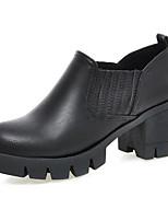 Zapatos de mujer-Tacón Robusto-Tacones / Plataforma / Punta Redonda / Botas a la Moda-Botas-Oficina y Trabajo / Vestido / Casual / Fiesta