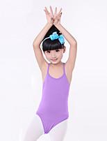 Ballet Leotards Children's Training Cotton Ruched 1 Piece Sleeveless Natural Leotard Kid's Dance Costumes