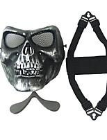 nos. plata m02 cs cráneo campo de máscara de cara zombie 2 generación máscara protectora del miedo