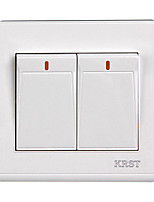 KRST 86 Type Flame Retardant Plastic Switch Switch Concealed Wall Bivalent Dual Control Two Open Double Control Switch
