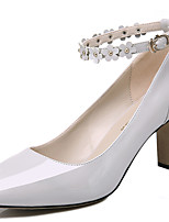 Women's Shoes Patent Leather Spring/Summer/Fall/Winter Heels Office & Career / Casual Chunky Heel Black/White