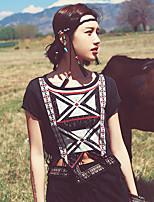 Aporia.As® Women's Off Shoulder Short Sleeve Shirt & Blouse Black-MZ03071