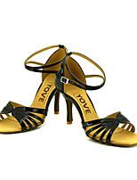Chaussures de danse(Noir / Bleu / Rouge / Argent / Or) -Personnalisables-Talon Personnalisé-Similicuir-Latine / Salsa