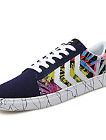 Men's Rainbow Shoes PU Athletic Sneakers Athletic Sneaker Flat Heel Black / Blue / Red