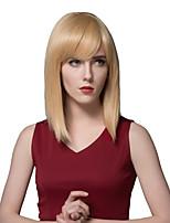 elegantes rectas largas pelucas de pelo humano para las mujeres