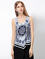 Heart Soul® Women's Strap Sleeveless T Shirt Blue / Orange-11AA28050