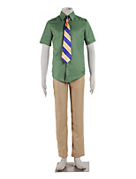 Inspired by Zootopia Nick Anime Cosplay Costumes Cosplay Suits Color Block Yellow / Green Shirt / Pants / Tie