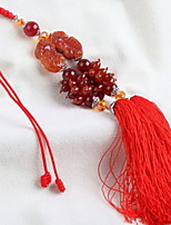Agate Auto Accessories Tassel Chinese Knot Car Decoration