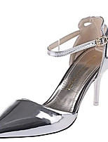 Women's Heels Summer Heels Patent Leather Casual Stiletto Heel Buckle Red / Silver / Gold Others