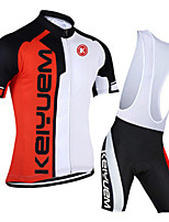 KEIYUEM® Summer Cycling Jersey Short Sleeves + BIB Shorts Ropa Ciclismo Cycling Clothing Suits #K112