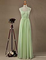 Serata formale Vestito Linea-A A cuore Lungo Chiffon con Drappeggio di lato