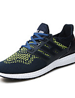 Men's Sneakers Summer Flats Tulle Athletic Flat Heel Lace-up Blue / Gray / Orange Sneaker