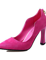 Women's Heels Summer Heels Fleece Casual Chunky Heel Others Black / Pink / Burgundy Others