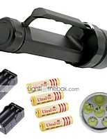 Diver 6 CREE XM-L2 LED Scuba Diving Flashlight Torch Underwater 9800LM Lamp with 4 Batteries and 2 Battery Chargers