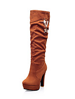 Women's Shoes  Heels / Fashion Boots Boots Outdoor / Office & Career / Casual Chunky Heel OthersBlack / &66-2