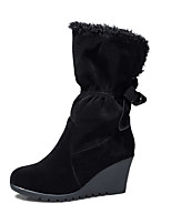 Women's Shoes    Wedges / Fashion Boots Boots Outdoor / Office & Career / Casual Wedge Heel OthersBlack /  &L-12