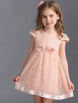 Girl's Cotton Summer Fashion Gauze Flower Princess Dress