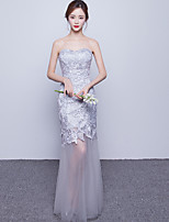 Formal Evening Dress Trumpet / Mermaid Sweetheart Floor-length Tulle with Lace