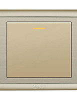 Champagne Concealed A Double Control Wall Switch Socket
