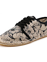 Men's Clogs & Mules / Flats Spring / Fall Round Toe / Styles Canvas Casual Flat Heel Others / Lace-up Purple / Gray / Orange Sneaker