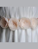 Cetim / Chifon Casamento / Festa/Noite / Dia a Dia Faixa-Florais / Imitação de Pérola Feminino 86 ½polegadas(220cm)Florais / Imitação de