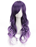 Cheap Good Quality Synthetic Ombre Purple Cosplay Color Wigs Heat Resistant Synthetic Wig