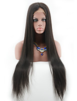 Long Straight Peruvian Full Lace Human Hair Wigs For Black Women 100 Unprocessed Glueless Full Lace Wig For Woman