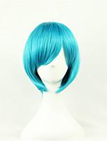 europe et aux états-unis une couleur perruque bobo cosinus bleu 10 pouces haute température courte perruque cheveux raides de soie