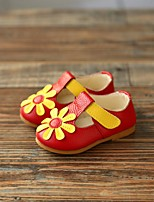 Girl's Sandals Spring / Summer Leather Outdoor Yellow / Pink / Red / White / Gold