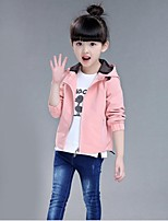 Girl's Casual/Daily Solid Suit & Blazer,Faux Fur / Cotton Winter / Spring / Fall Pink / Red