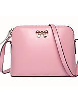 Women-Formal-Cowhide-Shoulder Bag-Beige / Pink / Purple / Yellow / Black