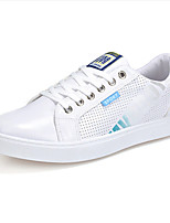 Men's Shoes PU Athletic Sneakers Athletic Sneaker Flat Heel Lace-up Blue / White