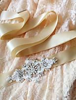 Cetim Casamento / Festa/Noite / Dia a Dia Faixa-Paetês / Miçangas / Pedraria / Imitação de Pérola Feminino 98 ½polegadas(250cm)Paetês /