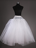 Slips Ball Gown Slip Tea-Length 3 Tulle Netting / Taffeta White