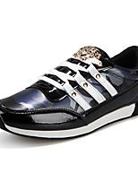 Hombre-Tacón Plano-Confort-Zapatillas de deporte-Exterior / Casual / Deporte-Microfibra-Azul / Morado / Negro y oro