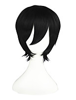 Ao no Exorcist-Okumura Rin Black 13inch Anime Cosplay Wig CS-047A