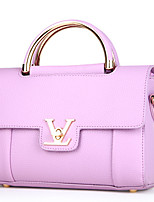 Women-Formal / Office & Career-Cowhide-Shoulder Bag-White / Pink / Purple / Blue / Red / Gray / Black