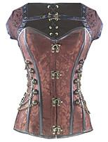 Shaperdiva Women's Plus Size Gothic Steel Boned Steampunk Overbust Corset Tops