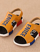 Boys' Shoes Casual PU Sandals Summer Comfort / Open Toe Hook & Loop Black / Yellow
