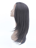 Wholesale Fiber Straight Hair Wig With Closure Dark Brown Hair Synthetic Lace Front Wig Heat Resistant Synthetic Wigs