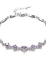 Women's Chain Bracelet Silver Rhinestone