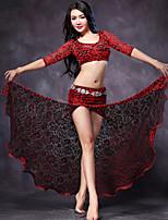 Accesorios(Fucsia / Rojo,Encaje,Danza del Vientre) -Danza del Vientre- paraMujer Encaje / Frente dividida Representación